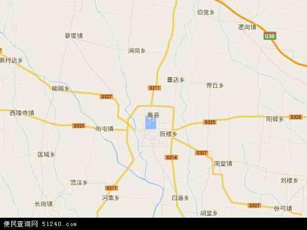 中国河南省商丘市睢县地图(卫星地图)
