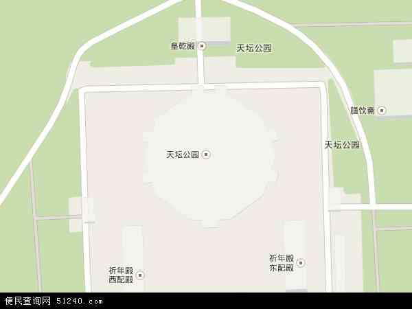 天坛地图 - 天坛卫星地图