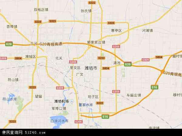 潍坊市地图 - 潍坊市卫星地图图片