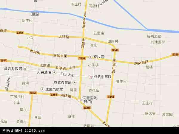 成武县西部城区规划图