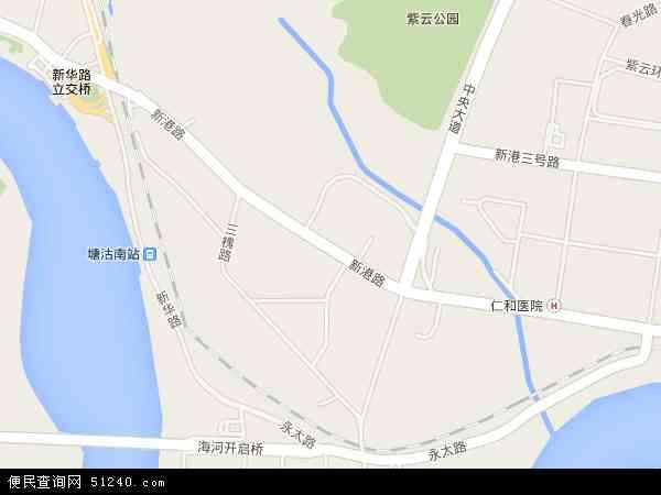 新港地图 新港卫星地图 新港高清航拍地图 新港高清卫星地图 新港2017年卫星地图 中国天津市滨海新区新港地图