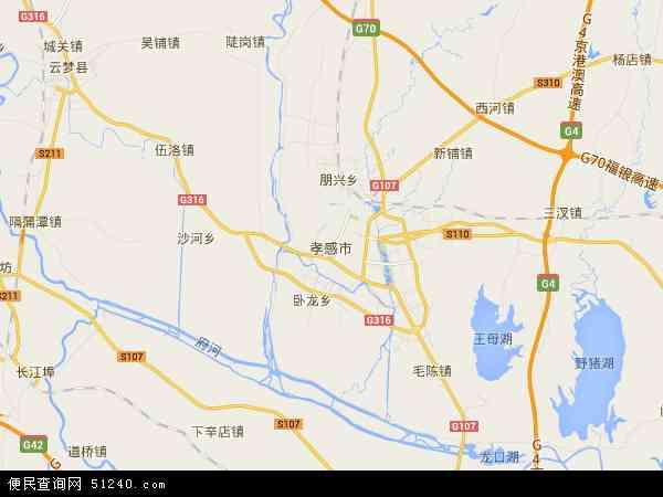 孝感市地图 - 孝感市卫星地图