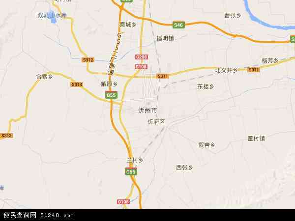 忻州市地图 - 忻州市电子地图 - 忻州市高清地图 - 2016年忻州市地图