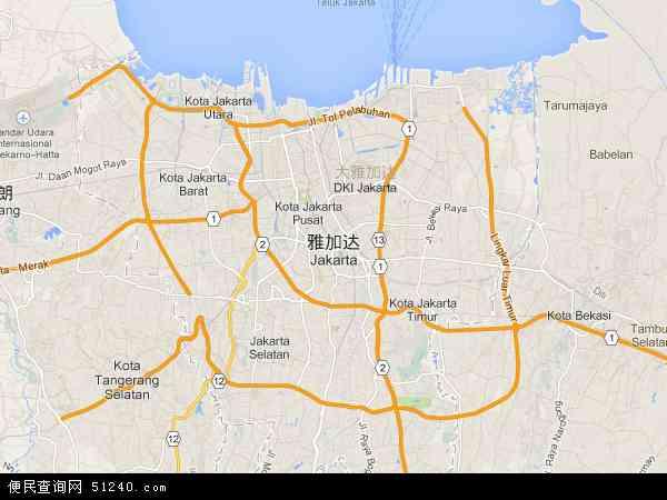 印尼雅加达地图_雅加达地图 - 雅加达卫星地图 - 雅加达高清航拍地图