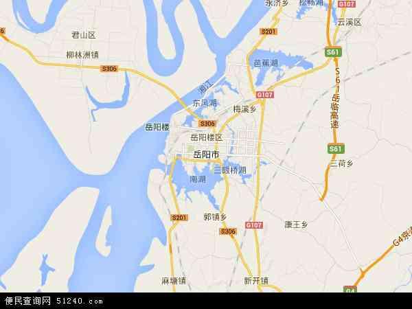 岳阳市地图 岳阳市卫星地图 岳阳市高清航拍地图 岳阳市高清卫星地图