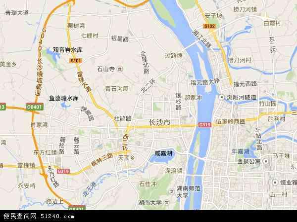 岳麓区卫星地图