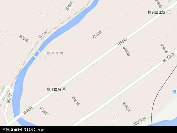 中国辽宁省丹东市振安区珍珠地图(卫星地图)