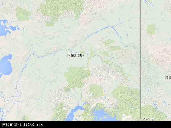 美国阿拉斯加地图(卫星地图)