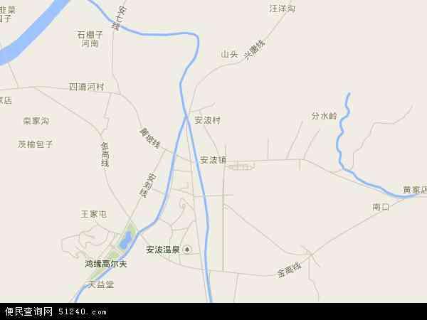 中国辽宁省大连市普兰店市安波镇地图(卫星地图)