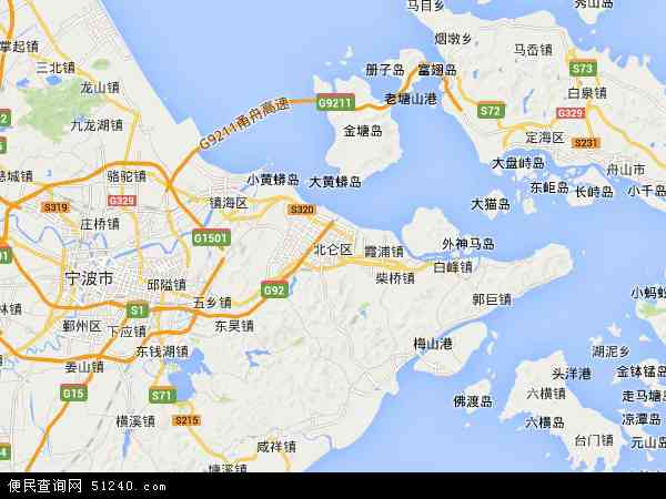 最新北仑区地图,2016北仑区地图高清版