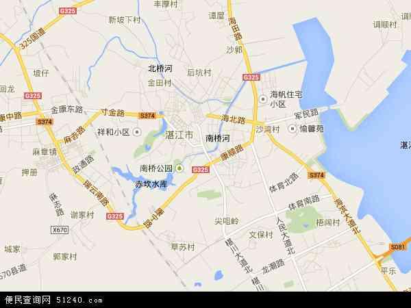 中国广东省湛江市赤坎区地图(卫星地图)