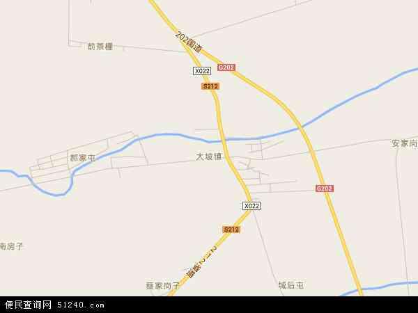 中国吉林省长春市榆树市大坡镇地图(卫星地图)