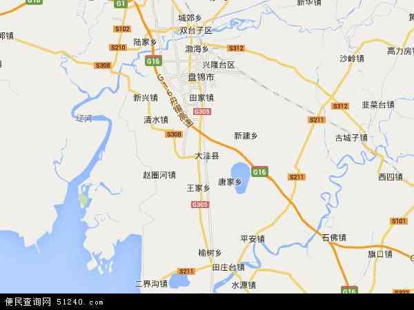 大洼县地图 - 大洼县卫星地图