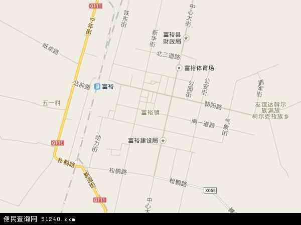 富裕镇地图 - 富裕镇卫星地图图片