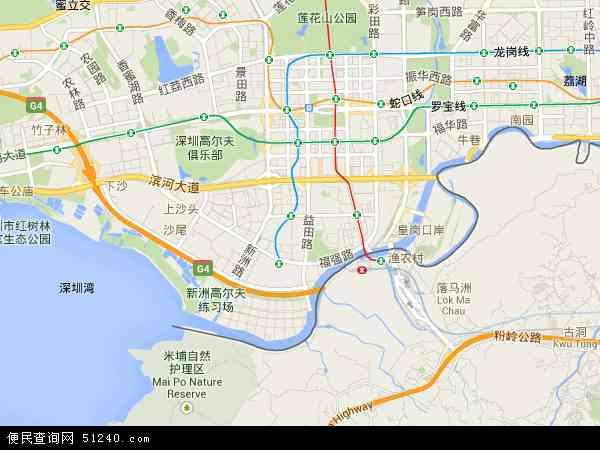 福田区地图 - 福田区卫星地图图片