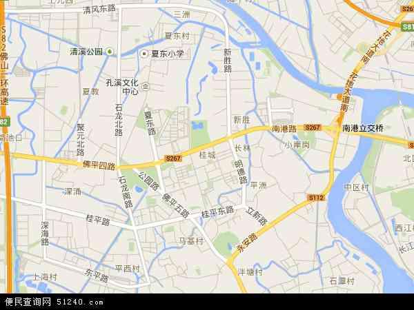 桂城地图 - 桂城卫星地图