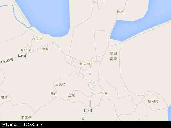 2016和安镇地图高清版,和安镇电子地图,2015和安镇地图 和安镇地形图