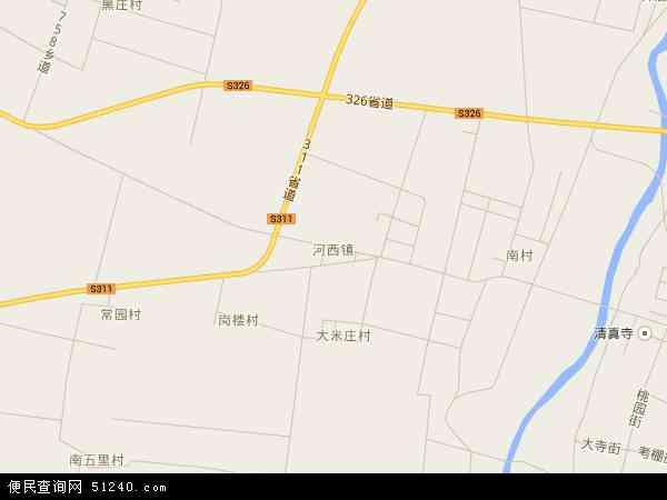 最新河西镇地图,2016河西镇地图高清版