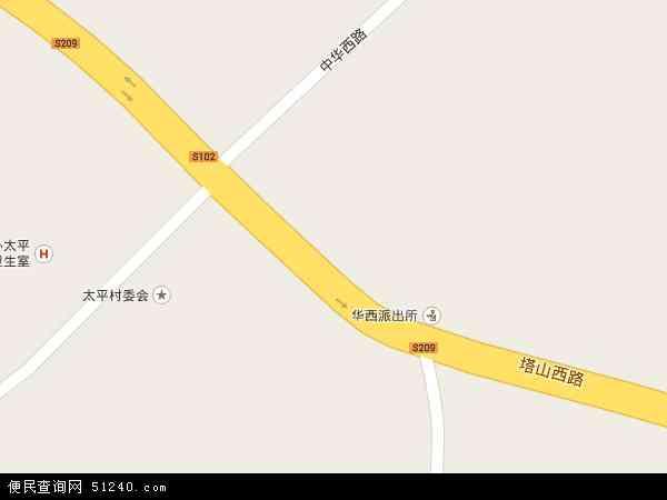 中国贵州省安顺市西秀区华西地图(卫星地图)