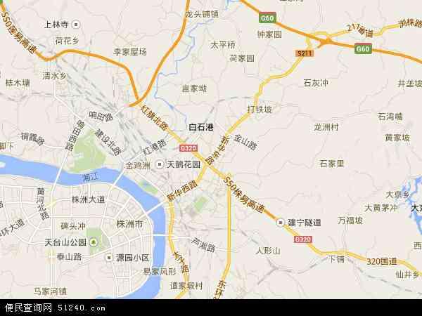 中国湖南省株洲市荷塘区地图(卫星地图)