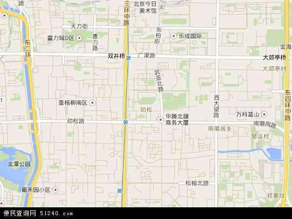北京劲松站车站结构图