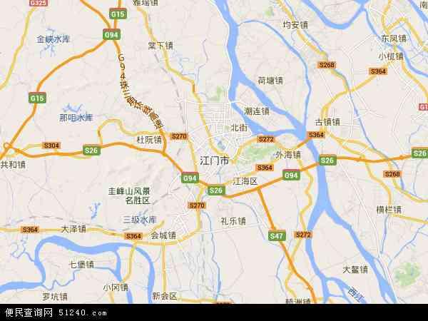 江门市地图 - 江门市卫星地图