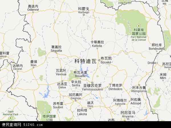 科特迪瓦地图 - 科特迪瓦电子地图 - 科特迪瓦高清地图 - 2016年科特迪瓦地图