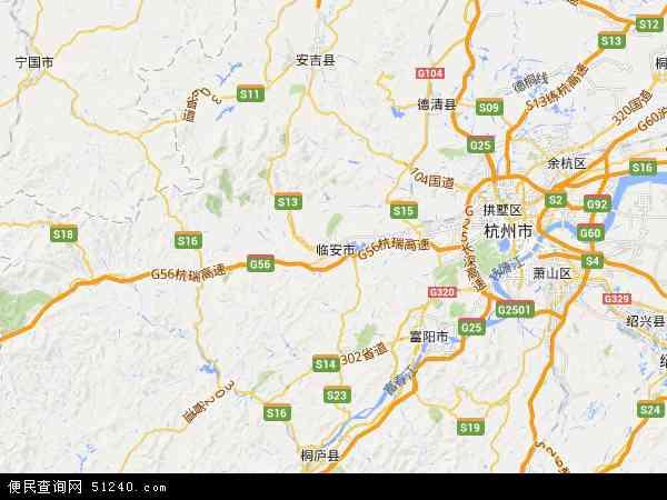 临安市地图 - 临安市卫星地图 - 临安市高清航拍