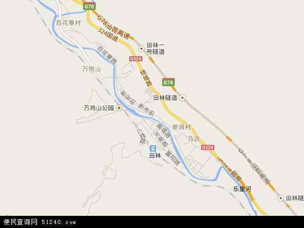 中国广西壮族自治区百色市田林县乐里镇地图