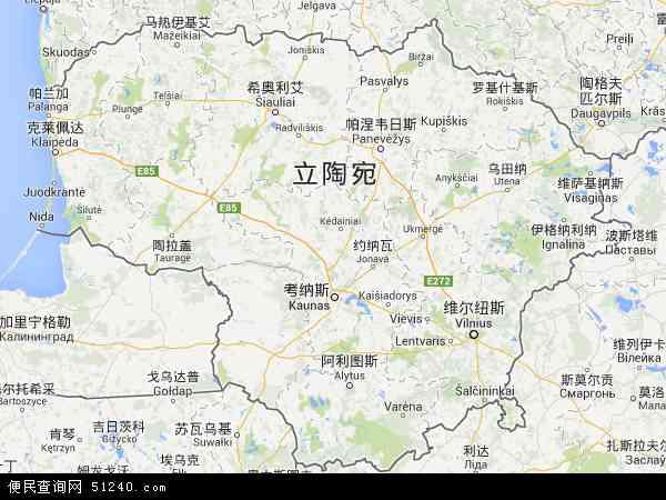 立陶宛地图 - 立陶宛电子地图 - 立陶宛高清地图 - 2016年立陶宛地图