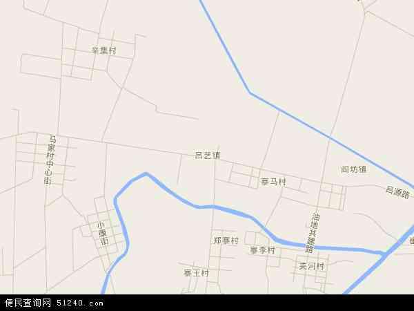 中国山东省滨州市博兴县吕艺镇地图(卫星地图)