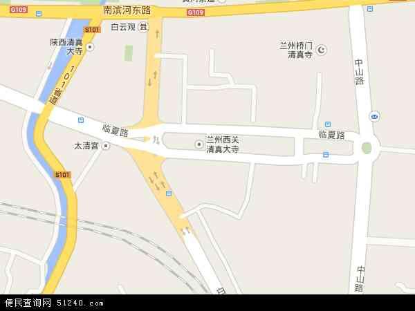 中国甘肃省兰州市城关区临夏路地图(卫星地图)