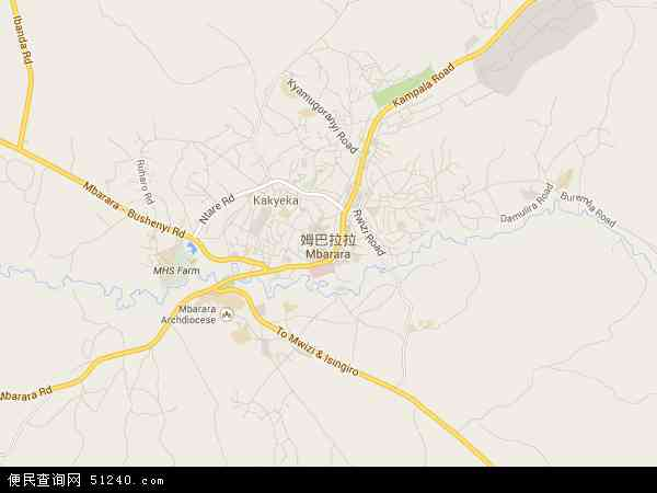 乌干达姆巴拉拉地图(卫星地图)