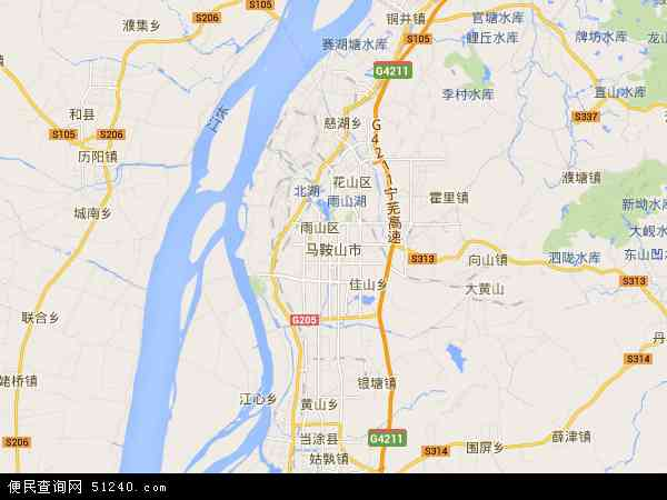 马鞍山市地图 - 马鞍山市电子地图