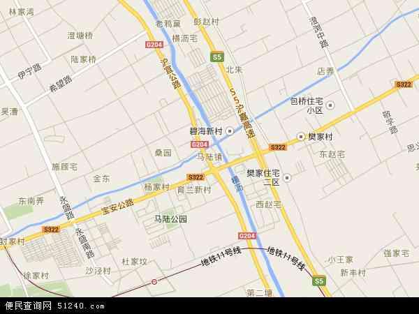 中国上海市嘉定区马陆镇地图(卫星地图)