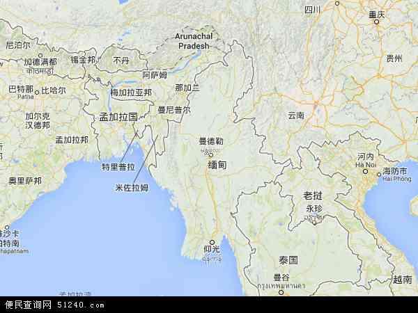 最新缅甸地图,2016缅甸地图高清版