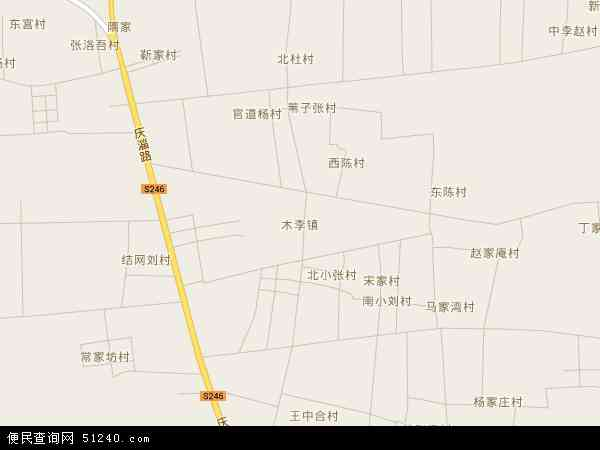 中国山东省淄博市高青县木李镇地图(卫星地图)