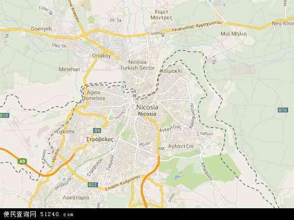 尼科西亚电子地图,2015尼科西亚地图 尼科西亚地形图,2016尼科西亚