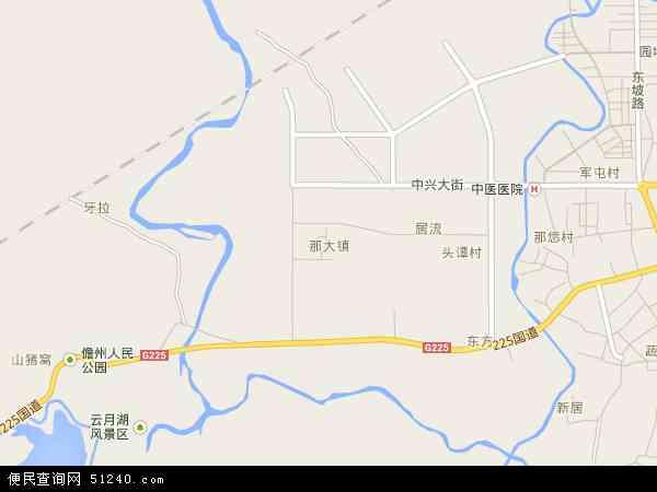 中国海南省省直辖县级行政区划儋州市那大镇地图(卫星地图)