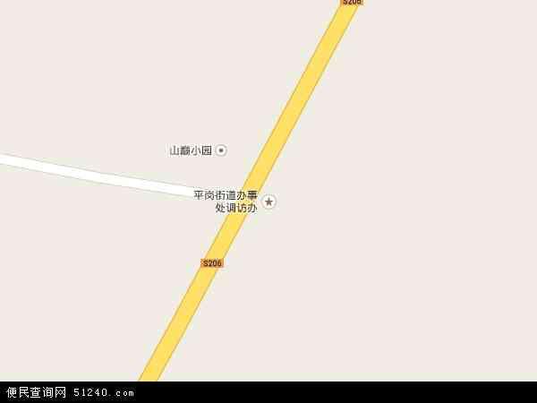 中国黑龙江省鸡西市梨树区平岗地图(卫星地图)