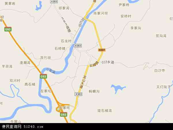 中国重庆市铜梁县蒲吕镇地图(卫星地图)