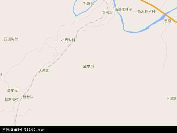 邱皮沟地图 - 邱皮沟卫星地图