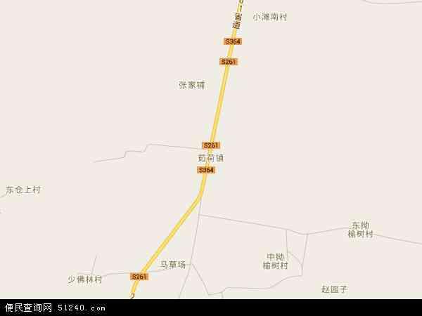 中国河北省秦皇岛市昌黎县茹荷镇地图(卫星地图)