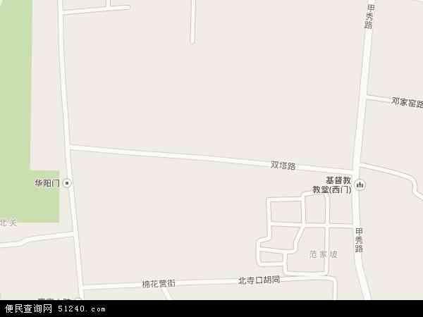 双塔地图 - 双塔卫星地图