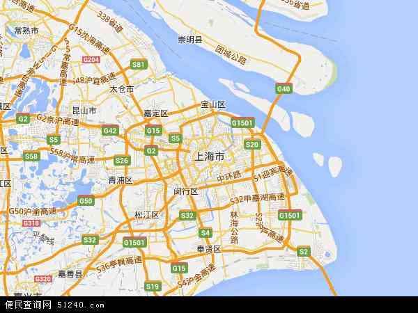 上海市地图 - 上海市卫星地图