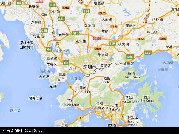 深圳市地图 - 深圳市卫星地图