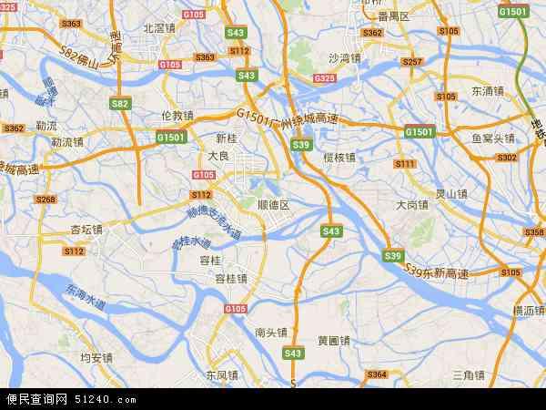 顺德区地图 - 顺德区卫星地图