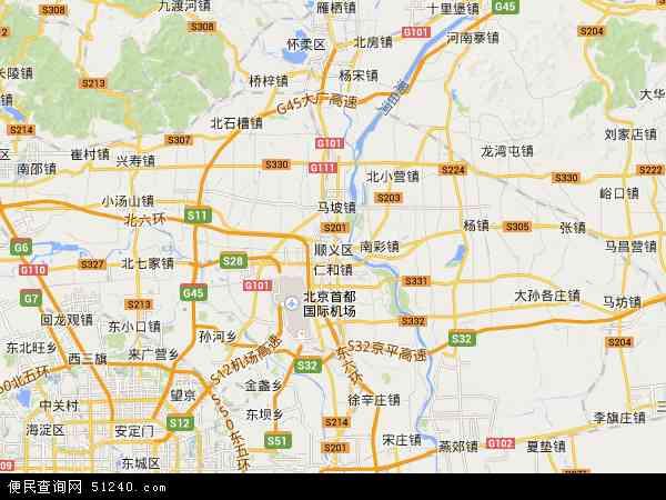 顺义区地图 - 顺义区卫星地图
