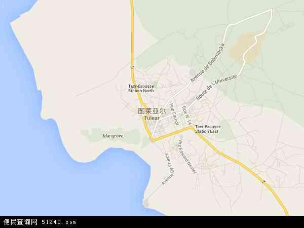马达加斯加图利亚拉地图(卫星地图)