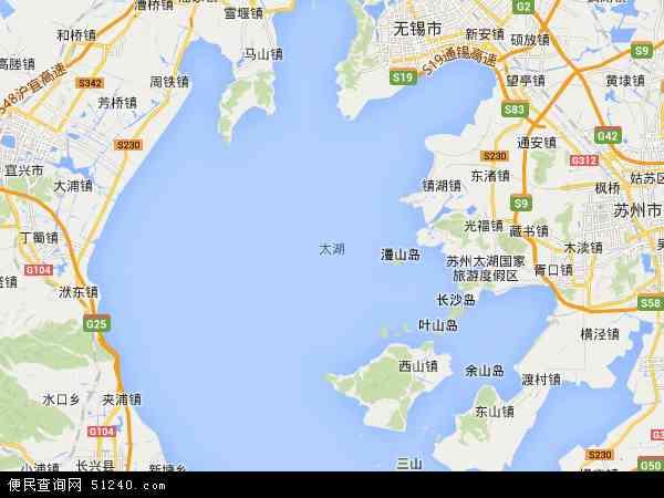 博茨瓦纳地图_太湖地图 - 太湖卫星地图 - 太湖高清航拍地图
